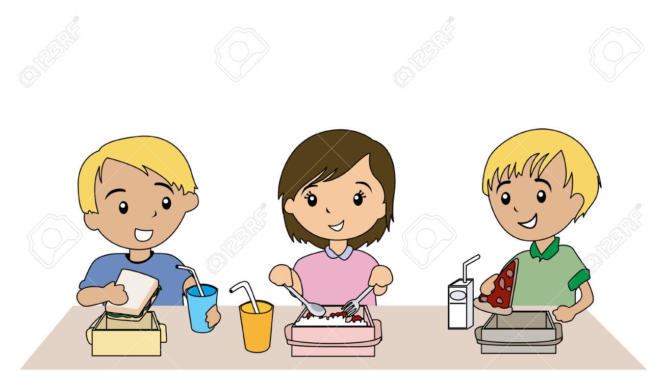 Tisch mit essen clipart png transparent Kinder am tisch clipart - ClipartFox png transparent