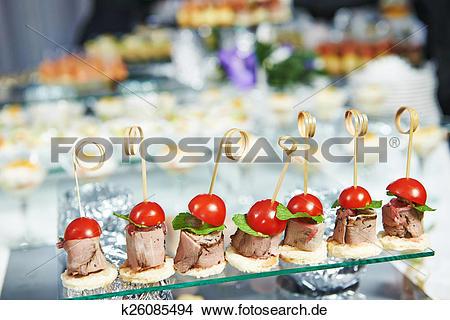 Tisch mit essen clipart png black and white stock Stock Foto - partyservice, service, tisch, mit, essen, satz ... png black and white stock