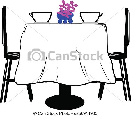 Tisch mit essen clipart png transparent Clipart Vector of table for two - empty table for two people with ... png transparent