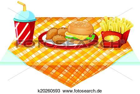 Tisch mit essen clipart banner free stock Clipart - a, fastfood, tisch, mit, essen k20260593 - Suche Clip ... banner free stock
