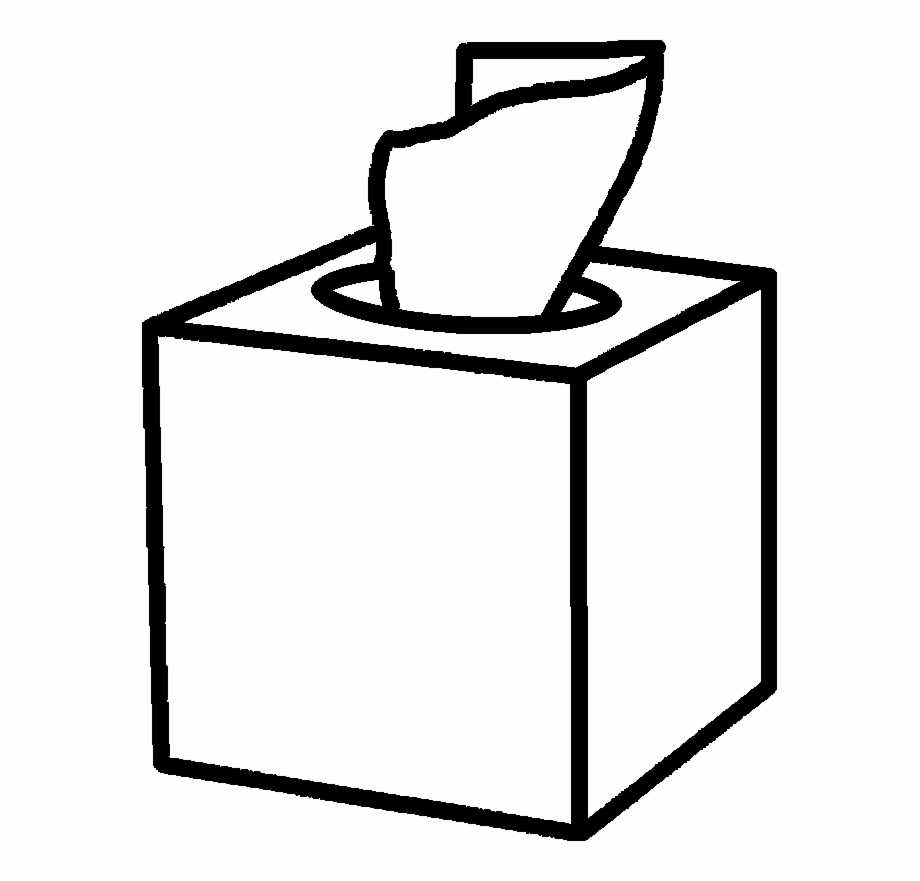 Tissue box clipart black and white transparent stock Square Box - Tissue Box Clipart, Transparent Png Download ... transparent stock