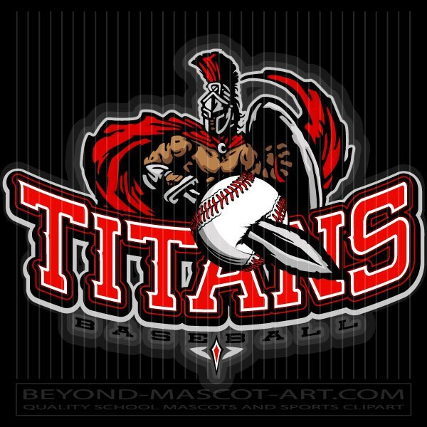Titan mascot clipart png library library Baseball Titan Design - Vector Clipart png library library