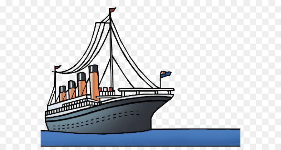 Titanic clipart black and white library White Star png download - 640*480 - Free Transparent Sinking ... black and white library