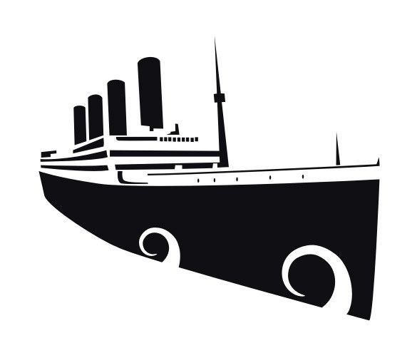 Titanic clipart black and white png black and white library Titanic Silhouette | Titanic Silhouette PSD . Titanic 100th ... png black and white library