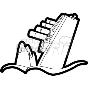 Titanic clipart black and white png black and white stock sinking ship from an iceberg black and white clipart. Royalty-free clipart  # 398111 png black and white stock