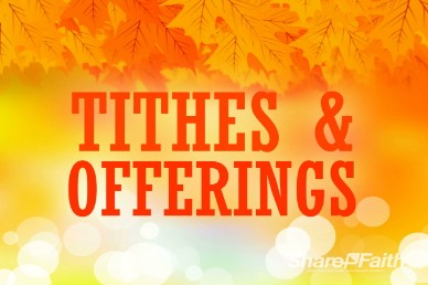 Tithes and offering clipart jpg transparent stock Free Fall Tithes and Offerings Church Service Video Loop ... jpg transparent stock