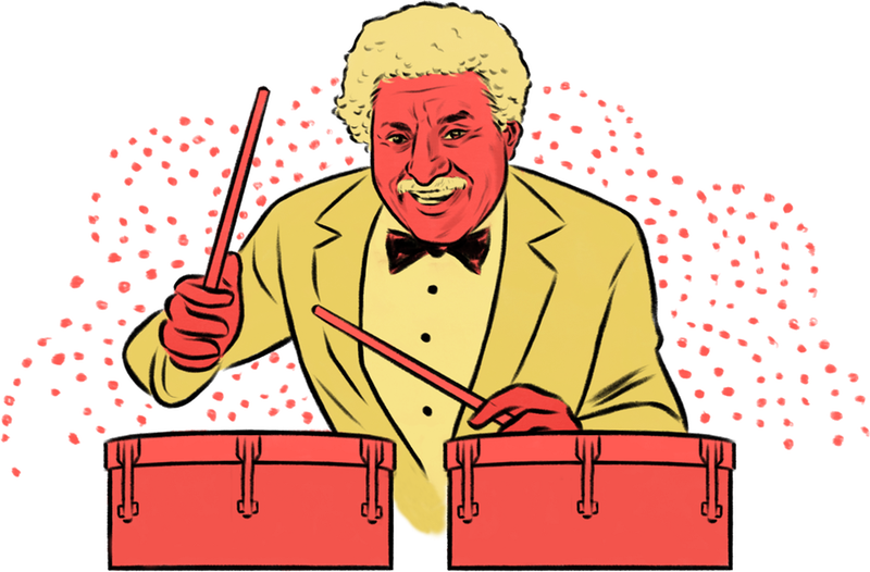 Tito puente clipart black and white download An Illustrated NYC Mambo, Boogaloo and Salsa Family Tree ... black and white download