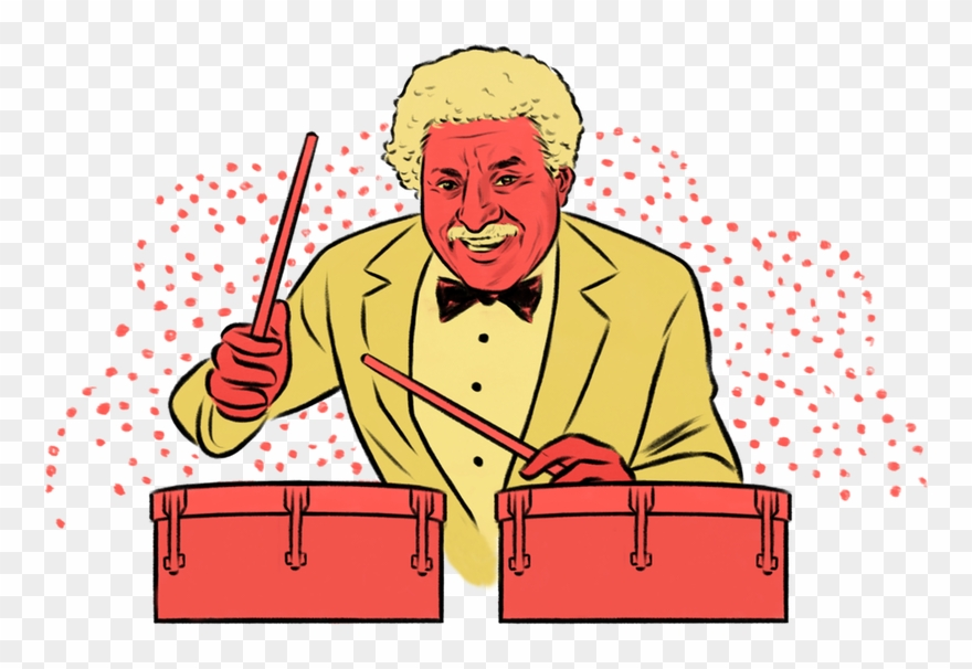 Tito puente clipart banner black and white library An Illustrated Nyc Mambo Boogaloo And Salsa - Tito Puente ... banner black and white library