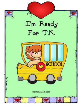 Tk and kinder back to schook night clipart royalty free stock I\'m Ready for TK: Transitional Kindergarten. Student-made bk ... royalty free stock