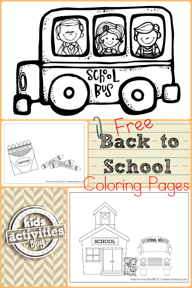 Tk and kinder back to schook night clipart png black and white Free Back to School Coloring Pages | Back to School Ideas ... png black and white
