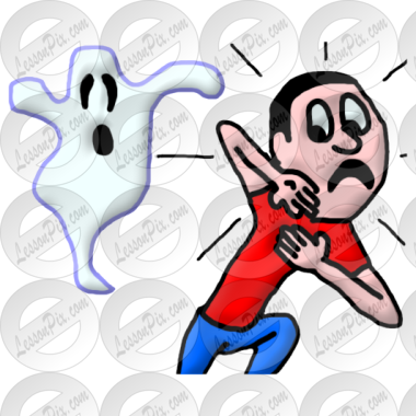 To afraid of ghoust clipart free stock Afraid Picture for Classroom / Therapy Use - Great Afraid ... free stock