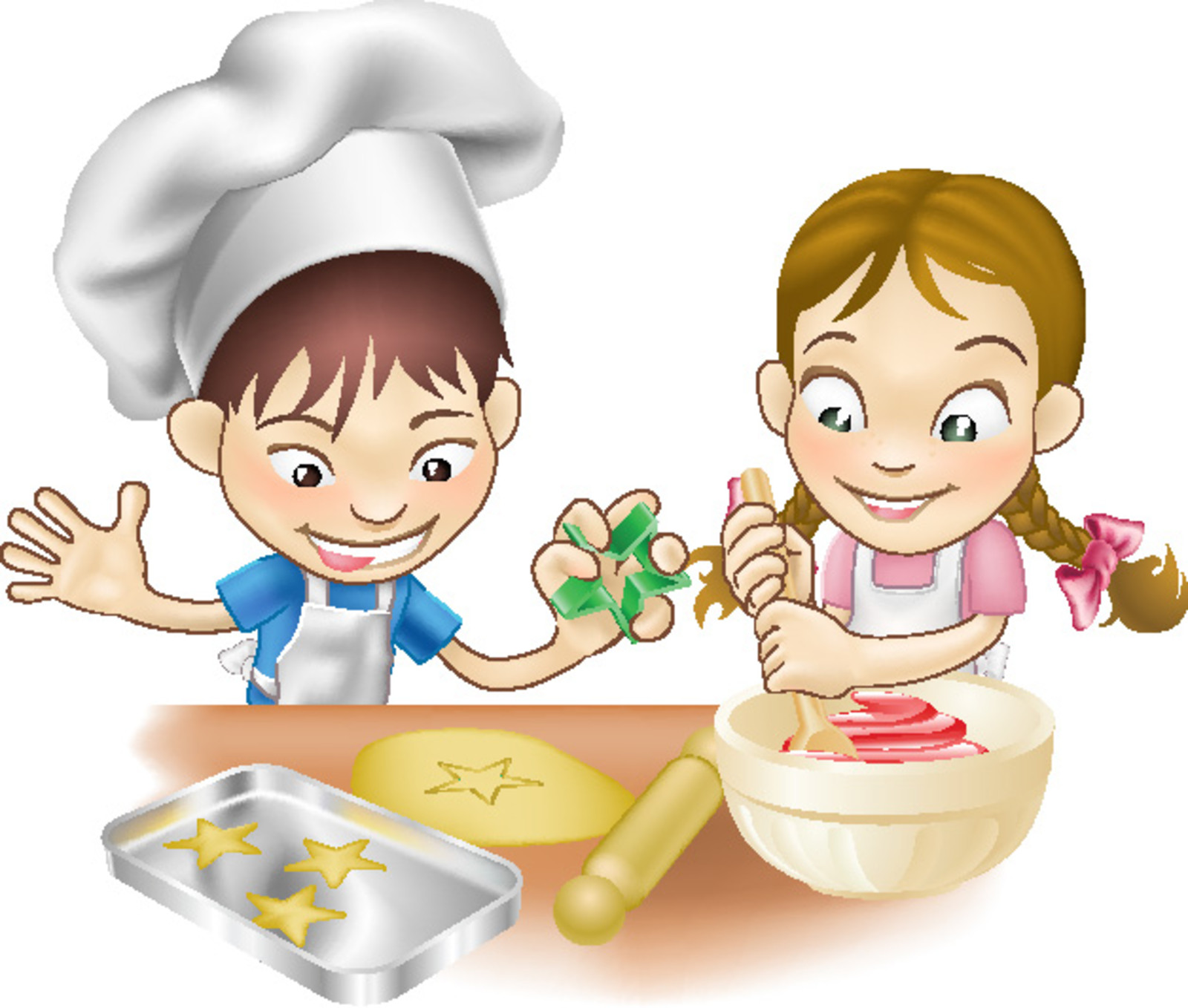 To cook clipart picture free library Baking Clipart Kids Cook Pencil And In Color Baking Cooking ... picture free library