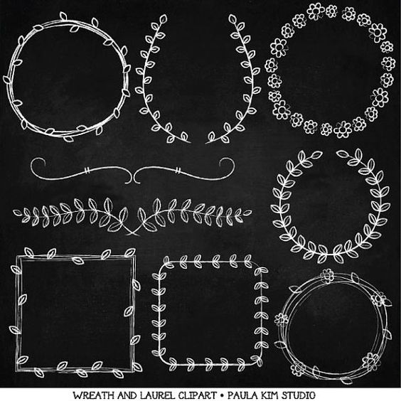 To do clipart chalkboard art transparent stock Chalkboard Frames and Borders, Wreath and Laurel Clipart, Wedding ... transparent stock