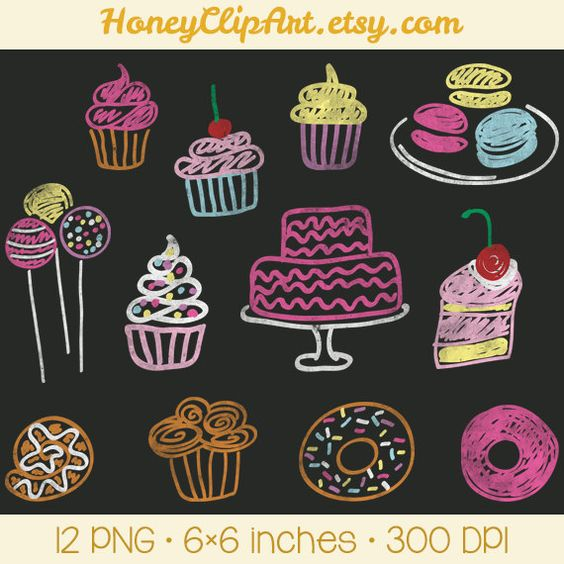To do clipart chalkboard art jpg transparent Digital Chalkboard Clipart, Bakery Clip Art, Cupcake Clipart, Cake ... jpg transparent