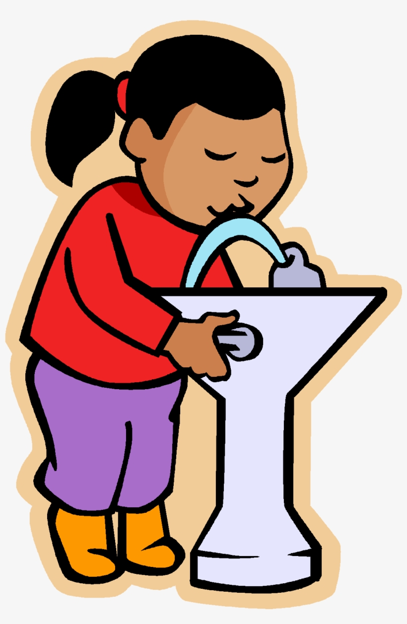 To drink clipart svg library stock May I Go To Drink Water Clipart - Drink Water Fountain ... svg library stock