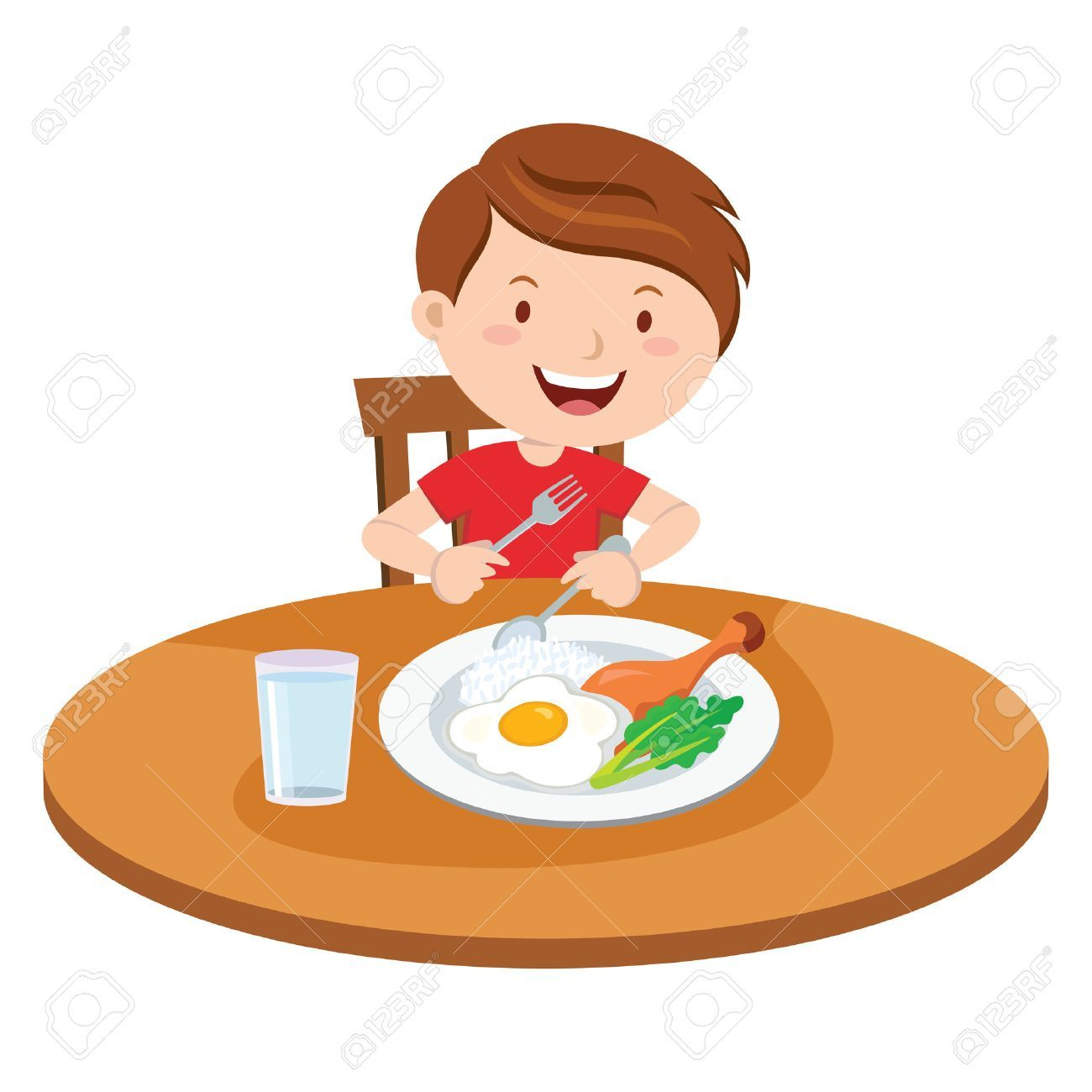 To eat breakfast clipart vector freeuse stock Boy eat breakfast clipart 4 » Clipart Portal vector freeuse stock