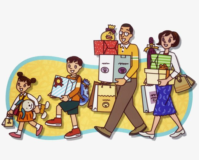 To go shopping clipart picture freeuse stock family to go shopping | nbnbn | Go shopping, Shopping ... picture freeuse stock