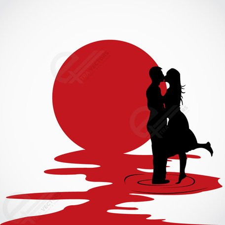 To kiss each other clipart clipart Free Love couple kissing each other vector silhouettess ... clipart