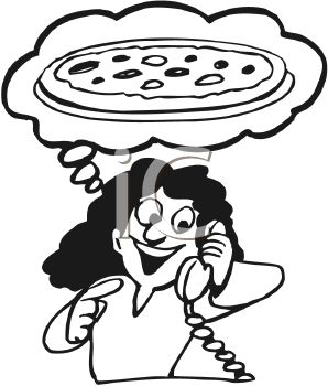 To order pizza clipart black and white graphic library download Order Pizza Clipart graphic library download