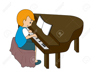 To play the piano clipart freeuse stock Lady Playing Piano Clipart | Free Images at Clker.com ... freeuse stock