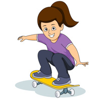 To ride a skateboard clipart picture freeuse download Riding A Skateboard Clipart picture freeuse download