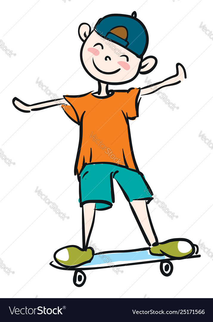 To ride a skateboard clipart svg royalty free stock Little boy learning how to ride skateboard svg royalty free stock