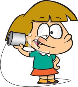 To talk on the phone clipart image free A Colorful Cartoon of a Kid Pretending To Talk on the Phone ... image free