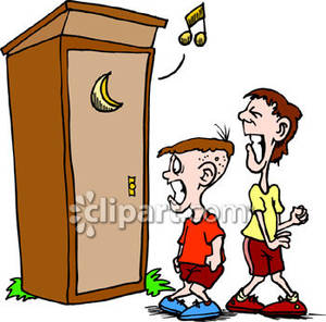 To use clipart svg transparent download Boys Waiting To Use an Outhouse - Royalty Free Clipart Picture svg transparent download