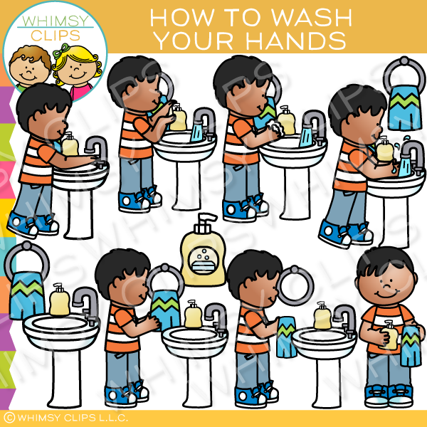 Kids washing hands clipart clip freeuse How to Wash Your Hands Clip Art clip freeuse