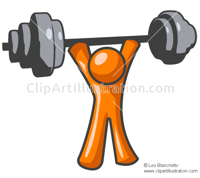 To work out clipart picture transparent download ClipArt Illustration of Orange Man Lifting Weights Exercising ... picture transparent download