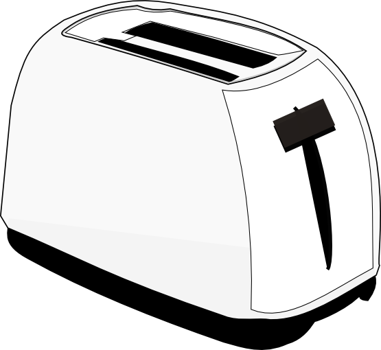 Toaster clipart black and white png royalty free library Collection of Toaster clipart | Free download best Toaster ... png royalty free library
