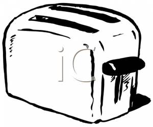 Toaster clipart black and white vector transparent library A Black and White Toaster Clipart Picture vector transparent library