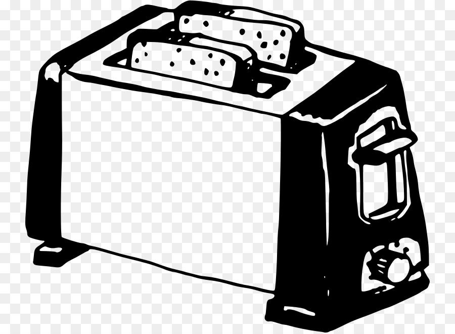 Toaster clipart black and white vector freeuse stock Book Black And White clipart - Kitchen, Drawing, White ... vector freeuse stock