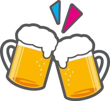 Toasting beer mugs clipart png library stock Free Cliparts : beer cheers Bōnenkai - 298421   illustAC png library stock