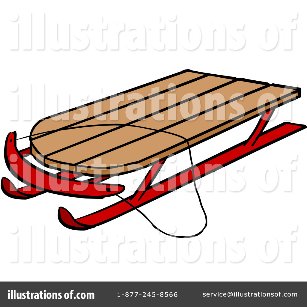 Toboggan clipart png transparent download Sled Clipart #1106638 - Illustration by Cartoon Solutions png transparent download