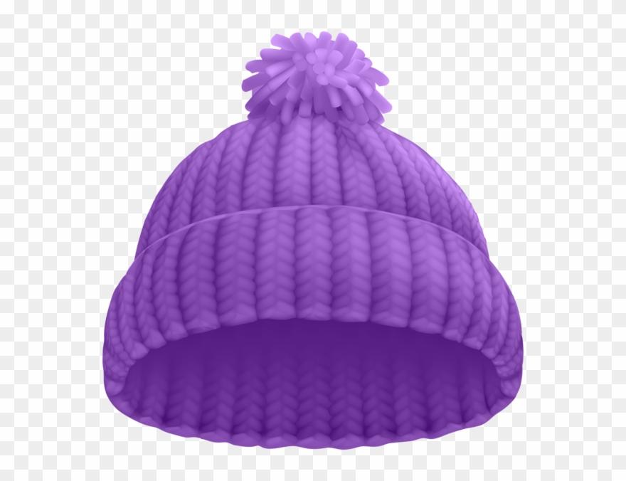 Toboggan hat clipart transparent Purple Winter Hat Png Clip Art Image - Beanie Clipart ... transparent