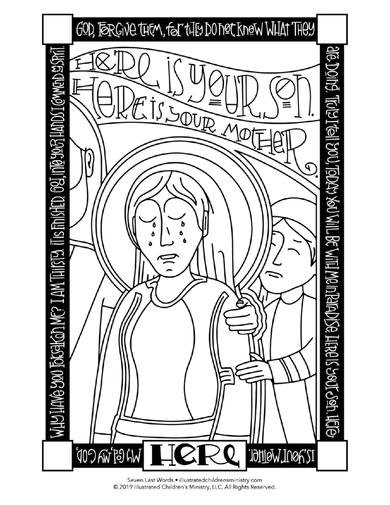 Today you will be with me in paradise clipart svg royalty free library Seven Last Words Coloring Pages svg royalty free library