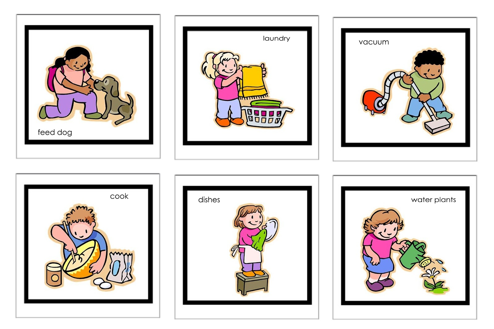 Toddler doing chores clipart black and white picture freeuse Children doing household chores clipart - WikiClipArt picture freeuse