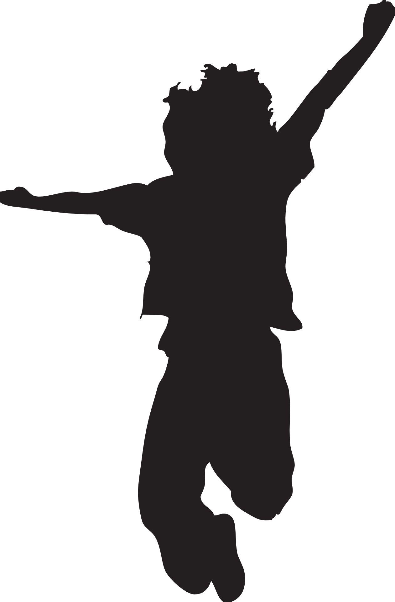 Toddler sillohette clipart clip freeuse library Jumping Silhouette Clipart - Clipart Kid | Silhouettes ... clip freeuse library