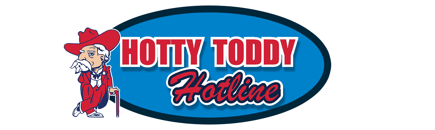 Toddy logo clipart banner black and white library Ole Miss | \'Hotty Toddy Hotline\' – CRM Sports banner black and white library