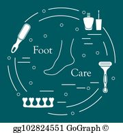 Toe seperator clipart svg library Toe Separator Clip Art - Royalty Free - GoGraph svg library