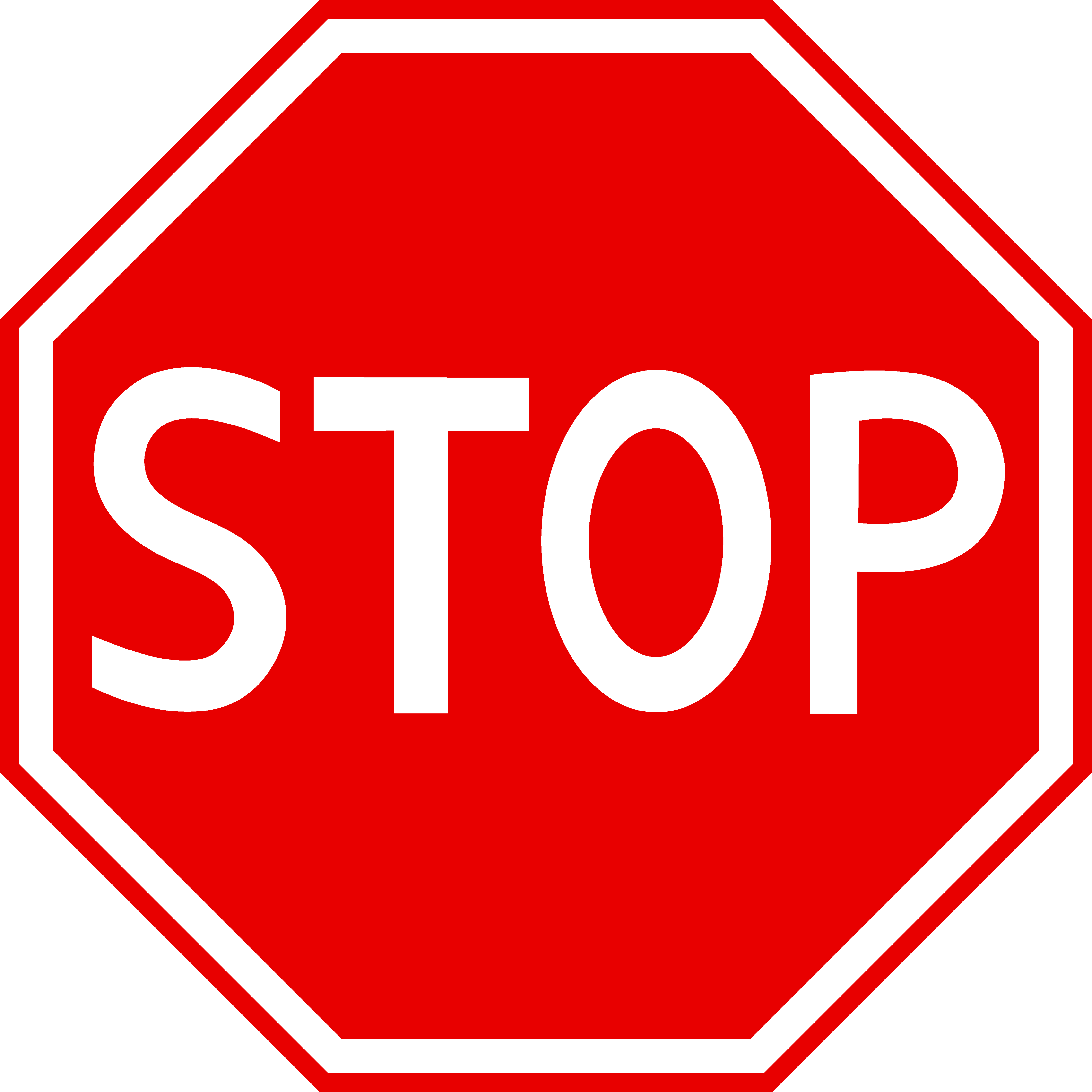 Toe stop clipart banner black and white library Big stop sign clipart best - Clipartable.com banner black and white library