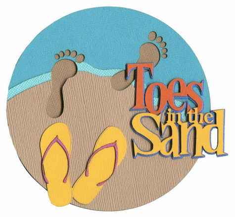Toes in the sand clipart clipart freeuse download Toes In The Sand Laser Die Cut clipart freeuse download