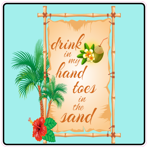 Toes in the sand clipart clipart royalty free download Drink In My Hand Toes In The Sand Beach Sticker clipart royalty free download