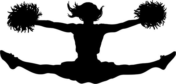 Toetouch clipart clipart black and white Toe Touch! | Cool, funny, and inspiring stuff | Cheer jumps ... clipart black and white