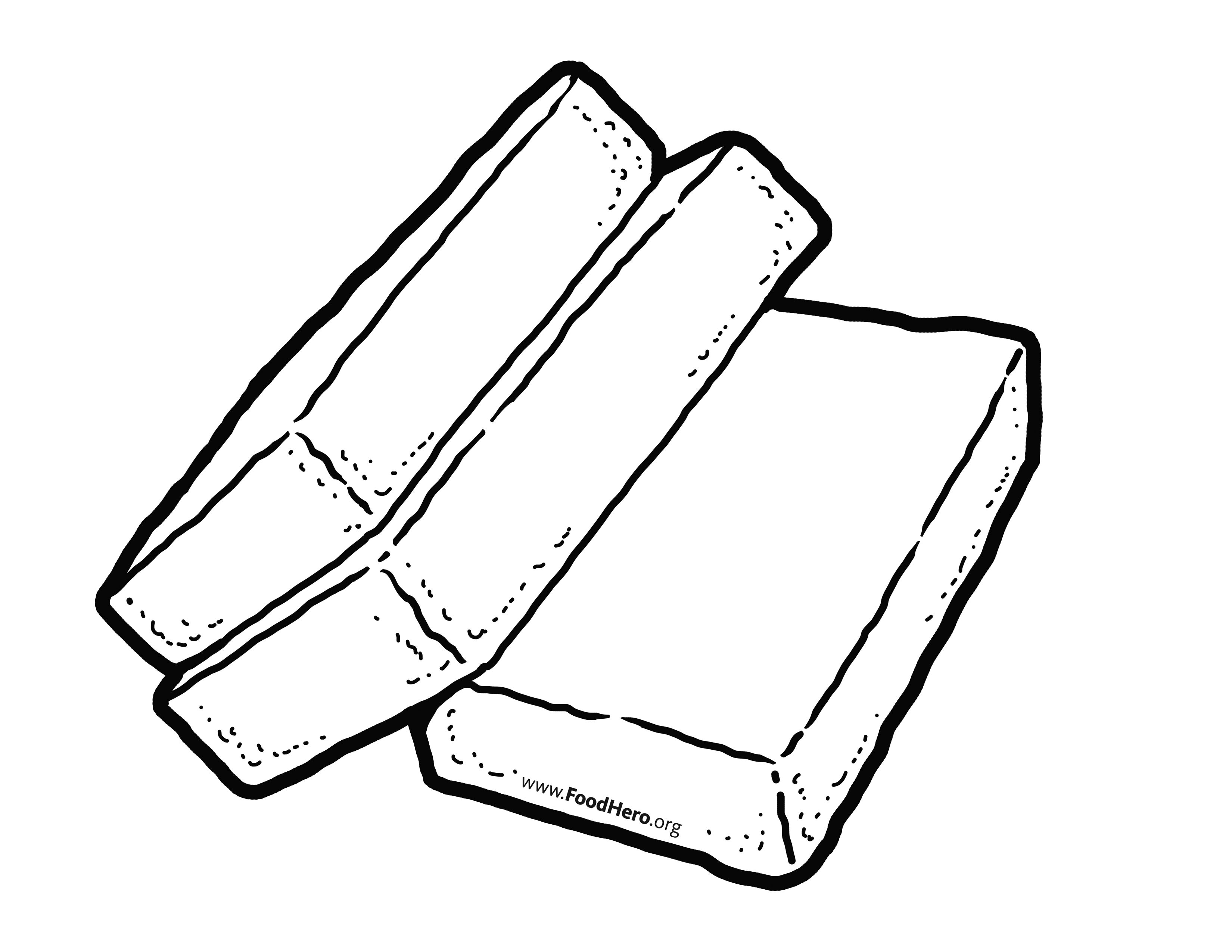 Tofo clipart black and white svg freeuse stock Tofu artwork. Find at foodhero.org. #illustration ... svg freeuse stock