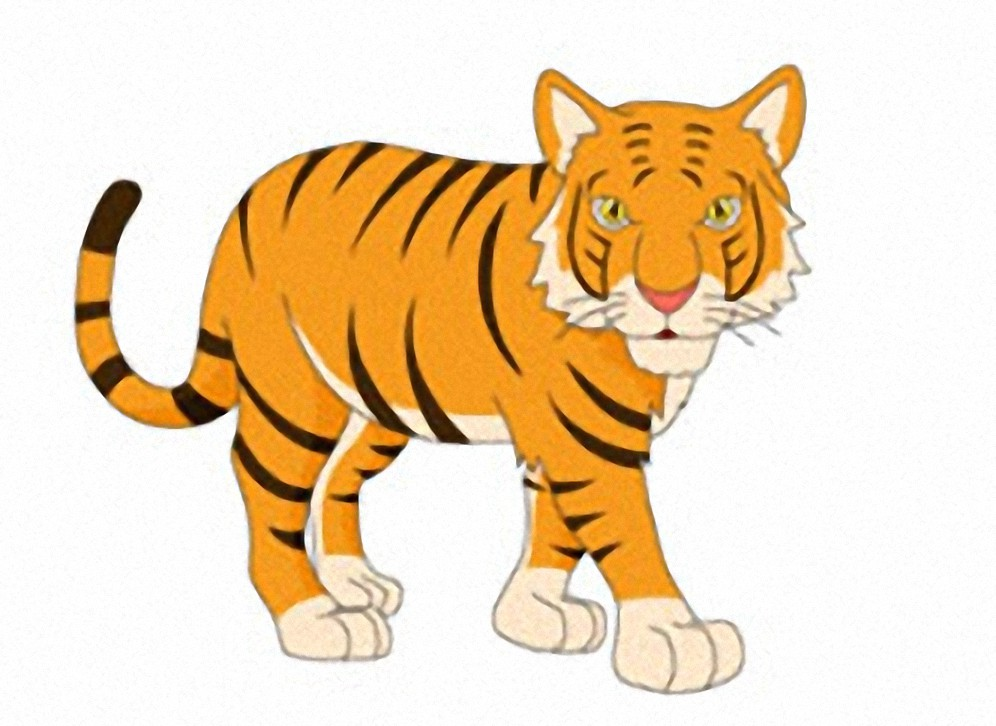 Tiger clipart pic vector transparent library Tiger Clipart Photo Free Download Picture 047 | Wallpaperal vector transparent library