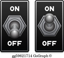 Toggle button clipart jpg black and white Switch Clip Art - Royalty Free - GoGraph jpg black and white