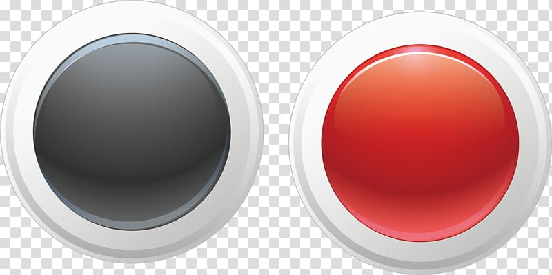 Toggle button clipart png transparent Two round black and red , Button Euclidean Circle, round ... png transparent