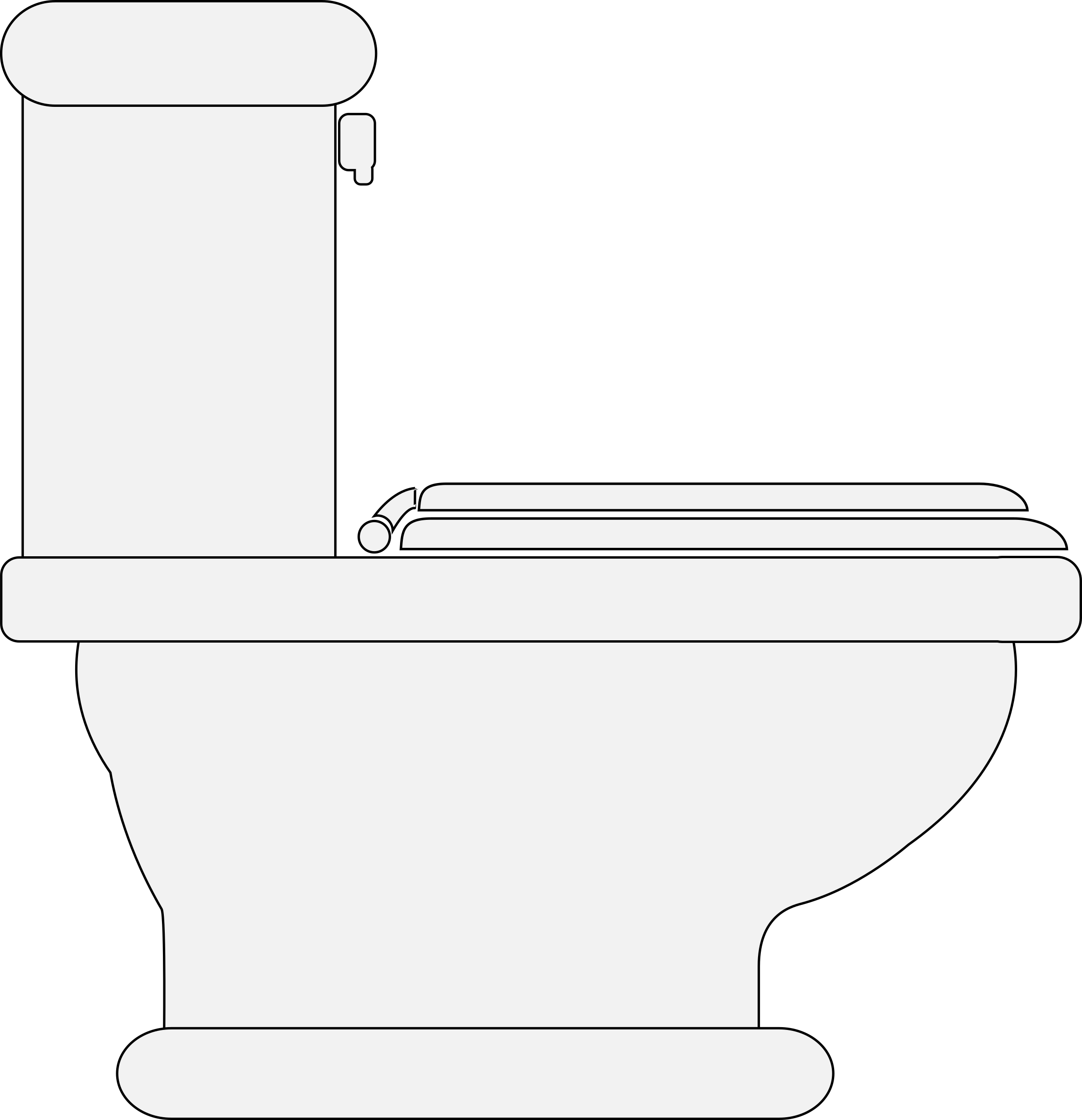 Toilet bowl clipart for house plans clip black and white download Clipart - Toilet (Seat Closed) clip black and white download